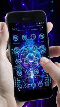 Technology Blue 3D Theme screenshot 1