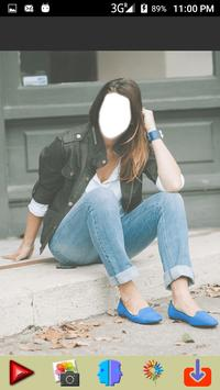 Women Blue Jeans Photo Montage screenshot 11