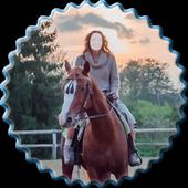 Women Horse Riding Selfie icon