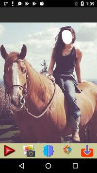 Women Horse Riding Selfie poster