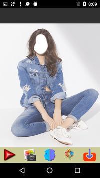 Women Jeans Photo Montage screenshot 4