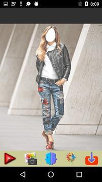 Women Jeans Photo Montage screenshot 2