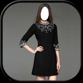 Women Dress Fashion - Black Color icon