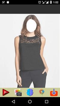 Women Dress Fashion - Black Color poster