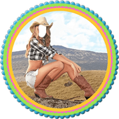 Cow Girl Selfie Editor icon