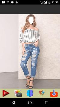Ripped Jeans Fashion Selfie poster