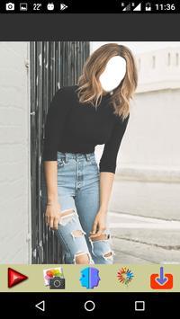 Ripped Jeans Fashion Selfie apk screenshot