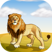 3D Lion Attack Sim icon