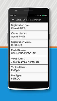 How To Find Vehicle Owner Details apk screenshot