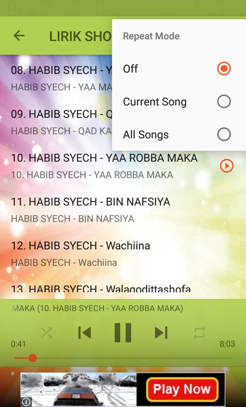 Lirik Sholawat Habib Syech Lengkap For Android Apk Download