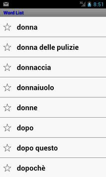 Learn Italian to English screenshot 1