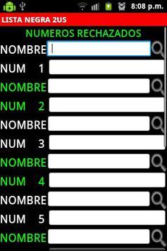 Lista Negra Mexico screenshot 1