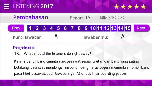 Listening Ujian Nasional SMK screenshot 7