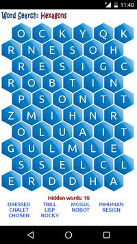 Word Search: Hexagons poster