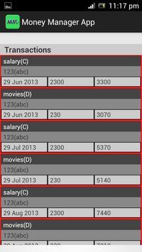 Money Manager screenshot 1