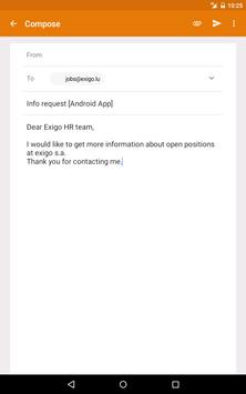 Exigo Jobs apk screenshot