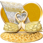 3D Luxury Lovely Couple Swan Theme icon