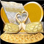 3D Luxury Lovely Couple Swan Theme icon