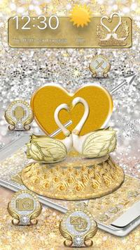 3D Luxury Lovely Couple Swan Theme poster