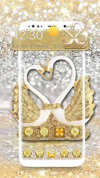 3D Luxury Lovely Couple Swan Theme screenshot 1