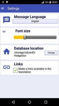 HedgeDict English Dictionary screenshot 3
