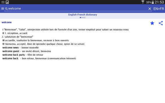 HedgeDict English Dictionary screenshot 5