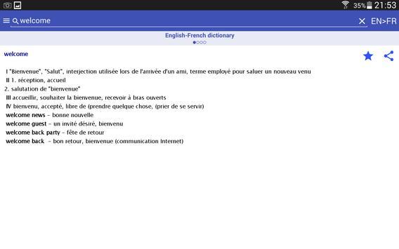HedgeDict English-French screenshot 5