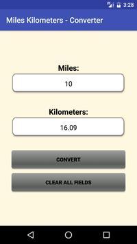 Miles Kilometers - Converter poster