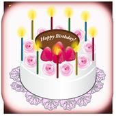 Write Name/Photo Birthday Cake icon