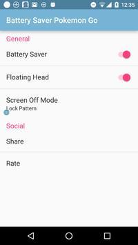 Battery Saver For Pokemon Go apk screenshot