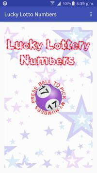 Lucky Lotto Numbers poster