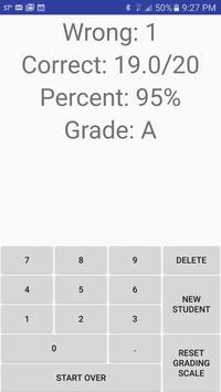 Percentage & Grade Calculator apk screenshot