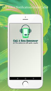 Call and Sms Announcer poster