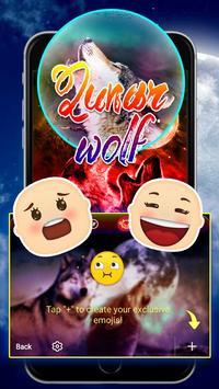 Lunar Wolf Theme&Emoji Keyboard screenshot 3
