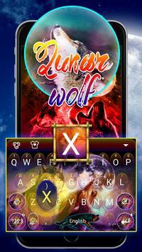 Lunar Wolf Theme&Emoji Keyboard poster
