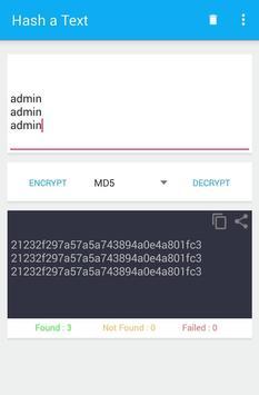 Hash a Text apk screenshot