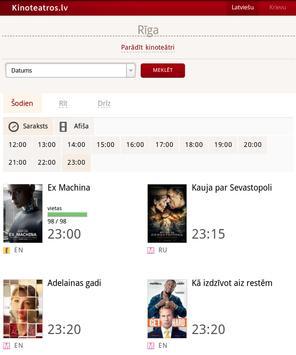 Kinoteatros.lv apk screenshot