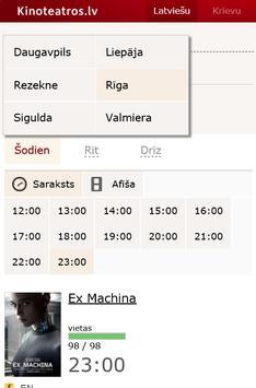 Kinoteatros.lv screenshot 1