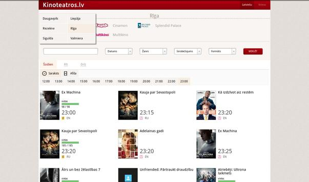 Kinoteatros.lv screenshot 7