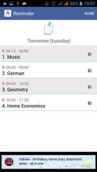 Timetable (AKLASE) apk screenshot