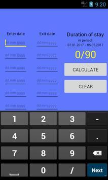 Visa calculator poster