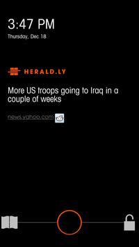 Herald.ly: Lock Screen News apk screenshot