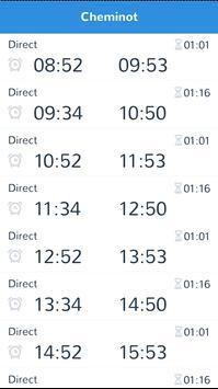 cheminot - horaires de train screenshot 1