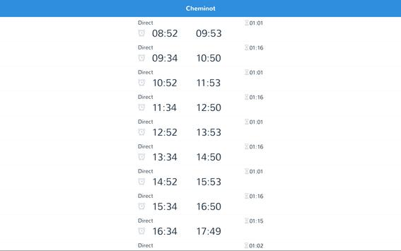 cheminot - horaires de train screenshot 4