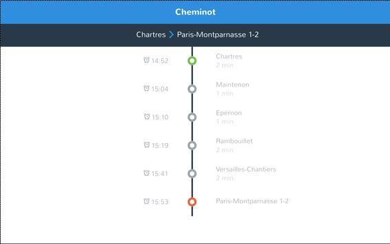 cheminot - horaires de train screenshot 5