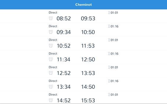cheminot - horaires de train screenshot 7