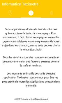 Taxi Tarif poster