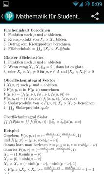Mathematik für Studenten Free apk screenshot