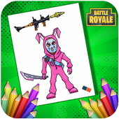 Coloring Fortnite Characters & Weapons For Fans icon
