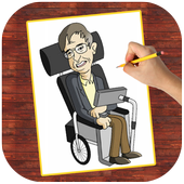 How To Draw Stephen Hawking | Fans icon